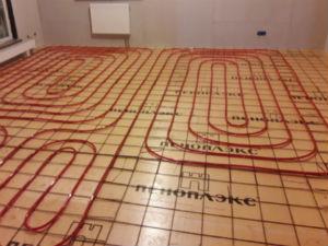 Отопление. Разводка труб в полу.