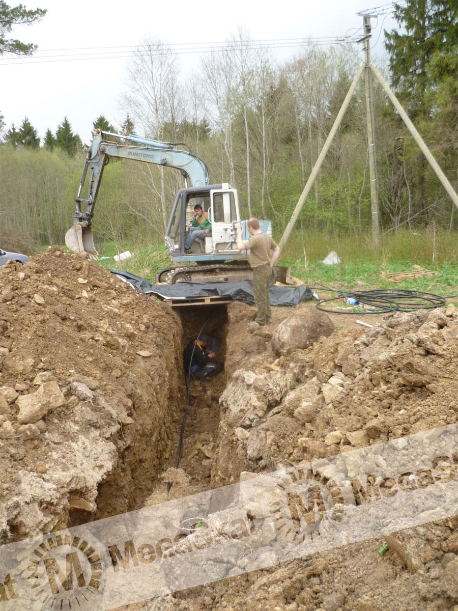 Монтаж водопровода из скважины