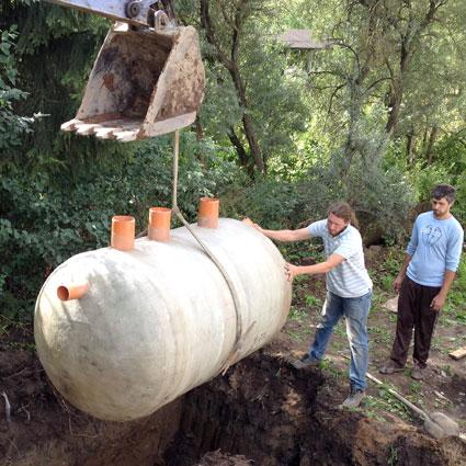 Установка локальной системы канализация в загородном доме на даче
